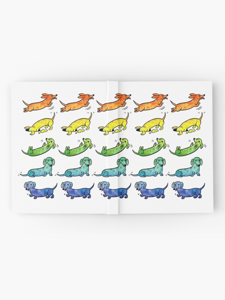 Alternate view of Watercolor Dachshunds Hardcover Journal