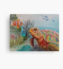 Sea Turtle Greetings Canvas Print