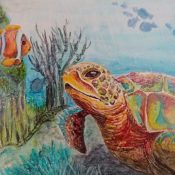 Sea Turtle Greetings by GlennArt