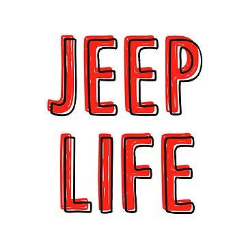 Jeep Life (rot) von its-anna