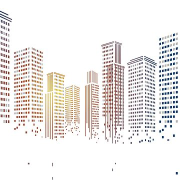 Gradient Cityscape by MeowntainCafe