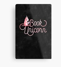 BOOK UNICORN Metal Print