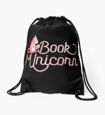 BOOK UNICORN Drawstring Bag