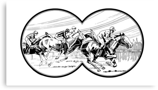 Horse Racing Canvas Prints By Marzzgraphics