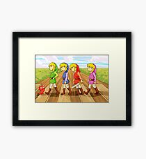 four swords crossing Framed Print