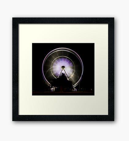 Wheel Of Perth 2 (long exposure) Framed Print