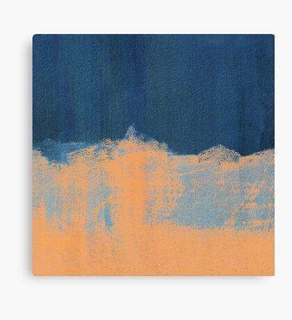 Summer Beach Abstract Orange Blue Canvas Print