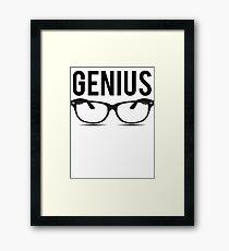Genius Geek Glasses Nerd Smart Framed Print