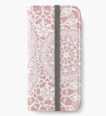 Delicate knitted lace of round doilies iPhone Wallet/Case/Skin