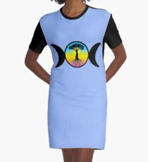 Mother Goddess Graphic T-Shirt Dress