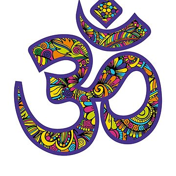 Om Symbol - Yoga T-Shirt by amorhka