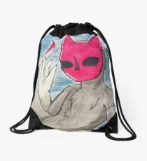 A little monster Drawstring Bag