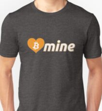 Bitcoin Be Mine Valentines Heart BTC Symbol Unisex T-Shirt