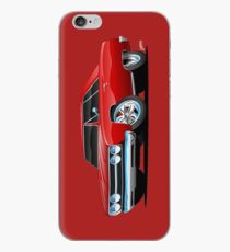 Red Hot Classic Muscle Car Coupe Cartoon iPhone Case