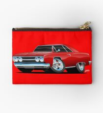 Red Hot Classic Muscle Car Coupe Cartoon Studio Pouch