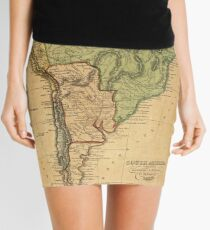 Vintage Map of South America (1821) Mini Skirt