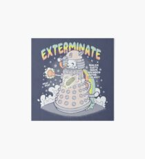 Dalek Cat Art Board