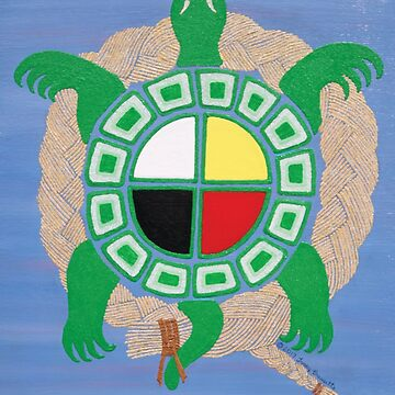 Sweetgrass/Turtle/Medicine Wheel by Nativeexpress