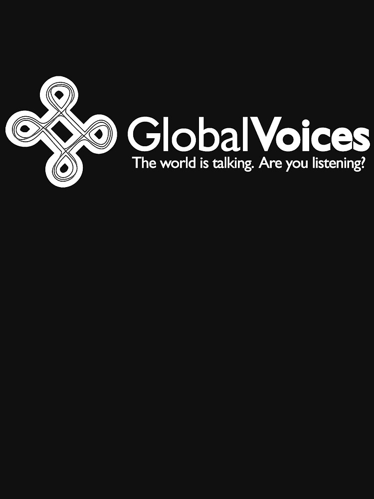 Global Voices, white logo by globalvoices