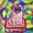 Summer time Pug!  by Edgot Emily Dimov-Gottshall