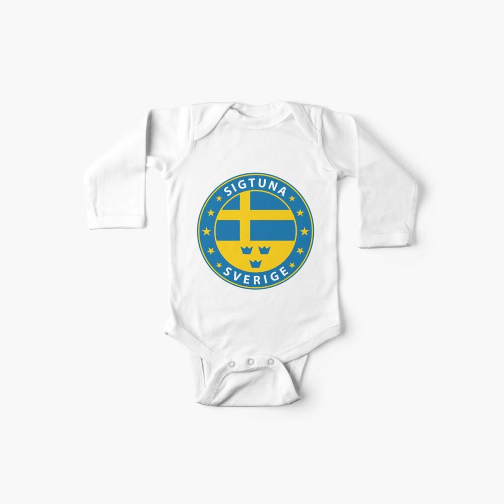 Sigtuna, Schweden, Sigtuna Aufkleber, Stadt von Schweden Baby Body