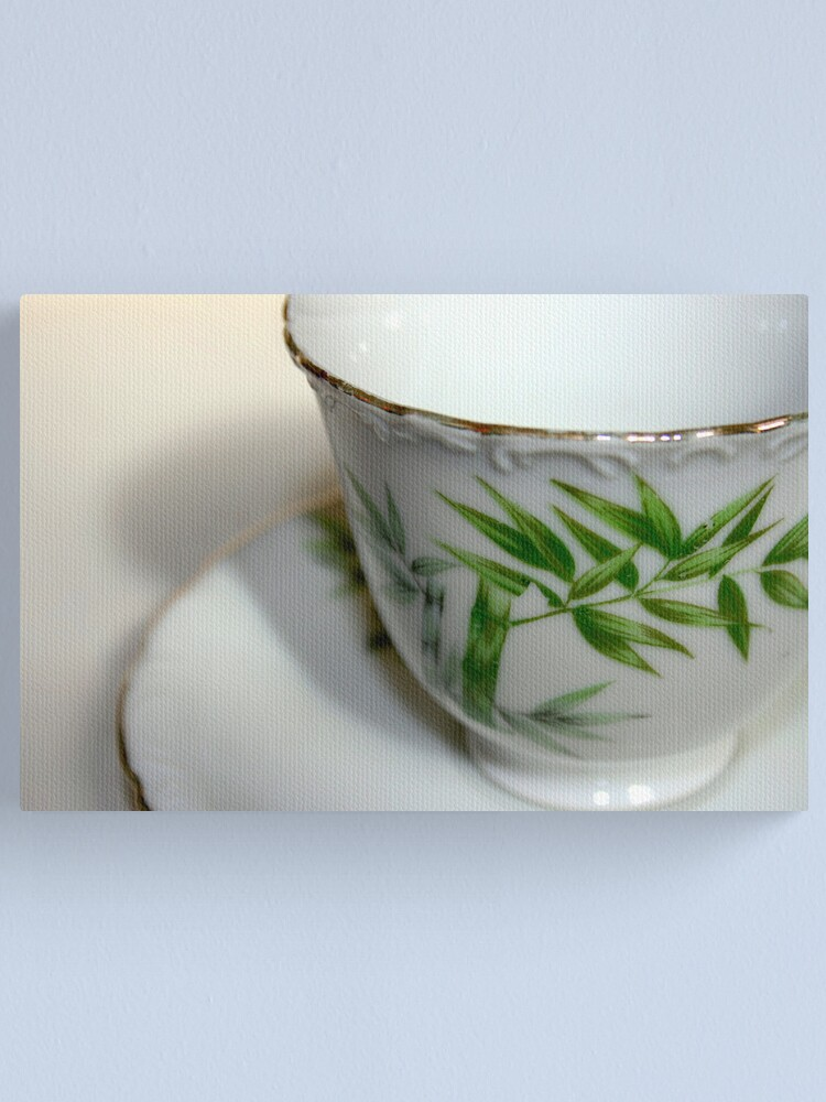 Alternate view of Empty Old Tea Cup Canvas Print