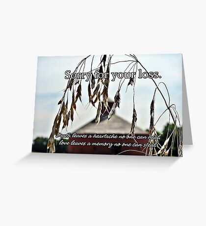 Sorry for your loss... Greeting Card