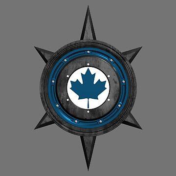 Maple Leaf Canada Tech Symbol by MapleWarrior