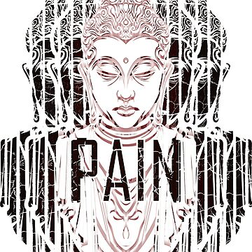 Buddha Pain Is Inevitable saying by Lumio