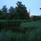 Bovenkerk by moonlight from Amsterdamse Bos, Amsterdam Netherlands by Mishimoto