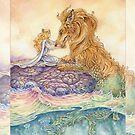 Strength Tarot Princess and Lion Serpent by Meredith Dillman