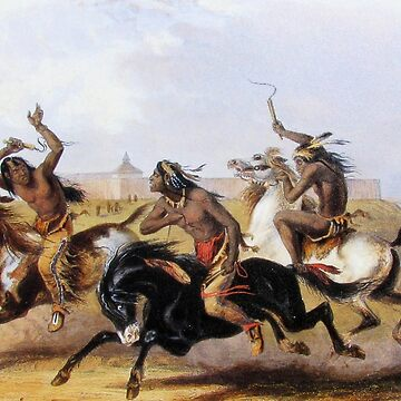 Horse Racing of the Sioux by IMPACTEES