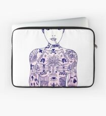 Pinup - Traditional Tattoo Girl Laptop Sleeve