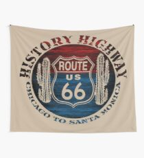 Route 66 The Great America Road Vintage Trip Perfect Gifts. Wall Tapestry