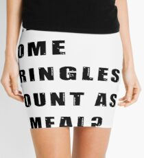 Does 6 beers and some Pringles count as a meal? Mini Skirt