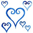 Watercolor Princess Heart by PrettyGeekChic