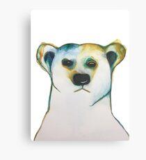 Watercolor Polar Bear Canvas Print