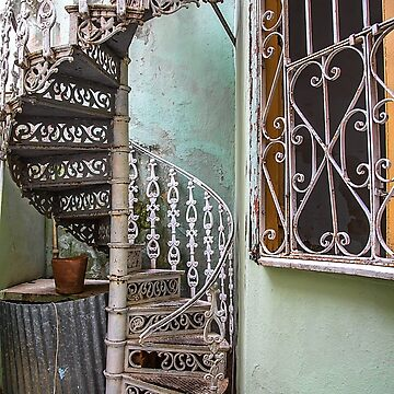 Cuba. Cienfuegos. Old Spiral Staircase. by vadim19