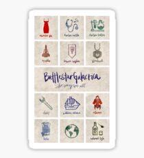 Battlestar Galactica - Minimalist Poster Sticker