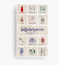 Battlestar Galactica - Minimalist Poster Metal Print
