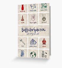 Battlestar Galactica - Minimalist Poster Greeting Card