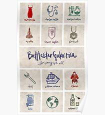 Battlestar Galactica - Minimalist Poster Poster