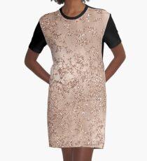 Rose Gold Crackle Graphic T-Shirt Dress