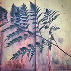 Fern on upcycled table  by KesiaHosking