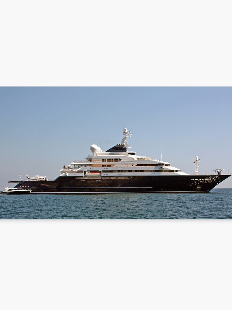 Bill Gates Yacht Leinwanddruck