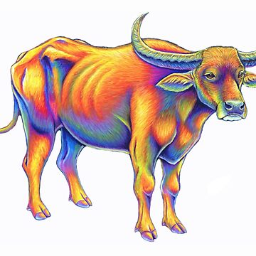 Colorful Chinese Zodiac Animals - Year of the Ox by lioncrusher