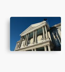 State House Iced Canvas Print