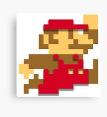 Minimalist 8-Bit Mario Canvas Print