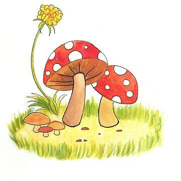 Mushroom Doodle  by catherinehom