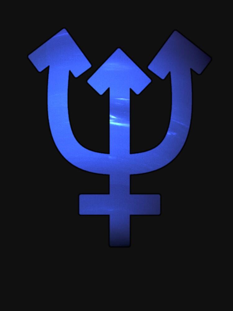 Neptune Astrological Symbol Unisex T Shirt By Bigbadbear Redbubble